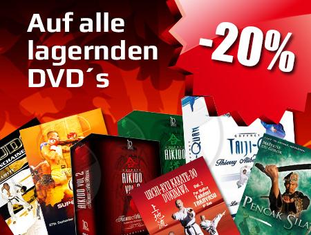 Aktion: -20% auf alle lagernden DVD's